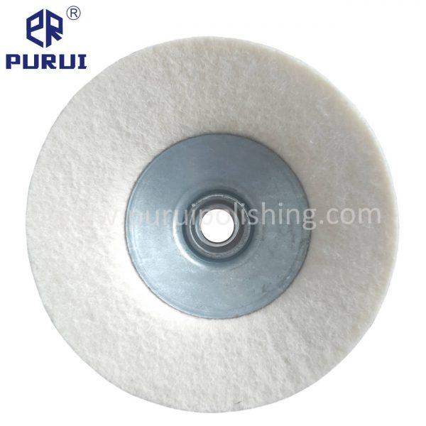 Angle grinder felt buffing wheel