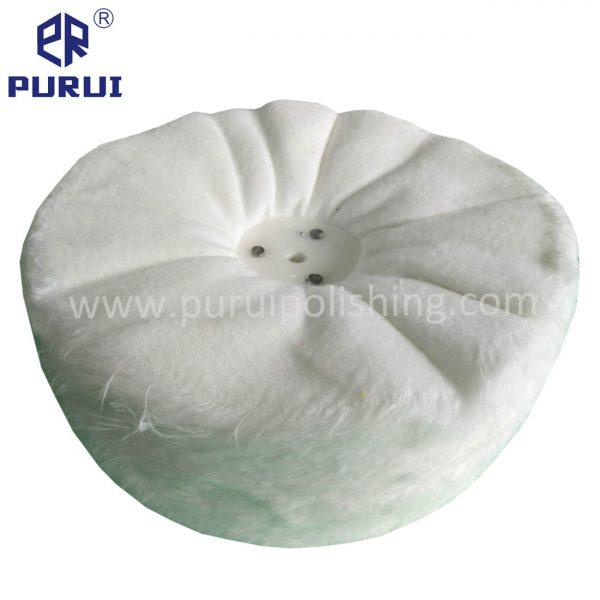 loose fold canton flannel buffing wheel with plastic washer
