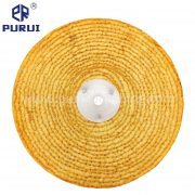 orange treated sisal buffing wheel