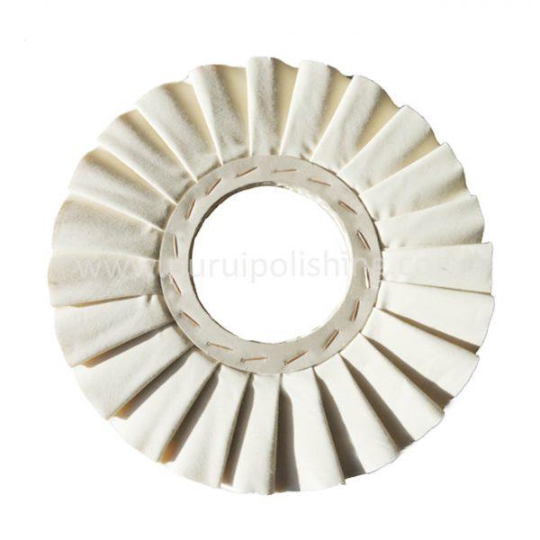 pleated airway buffing wheel