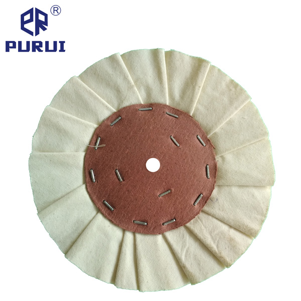 Pleated_White_Cotton_Buffing_Polishing_Wheel_With_Cardboard_Center