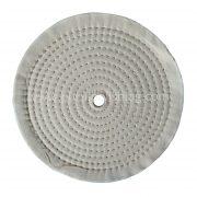 white cotton buffing wheel