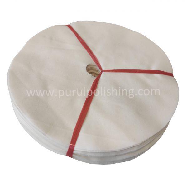 white cotton discs