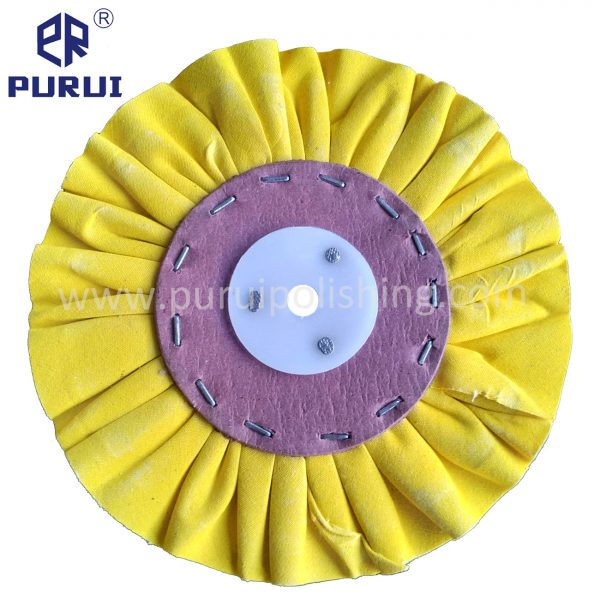 yellow airway buffing wheels
