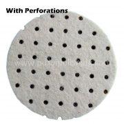Felt Polishing Pad with Perforations