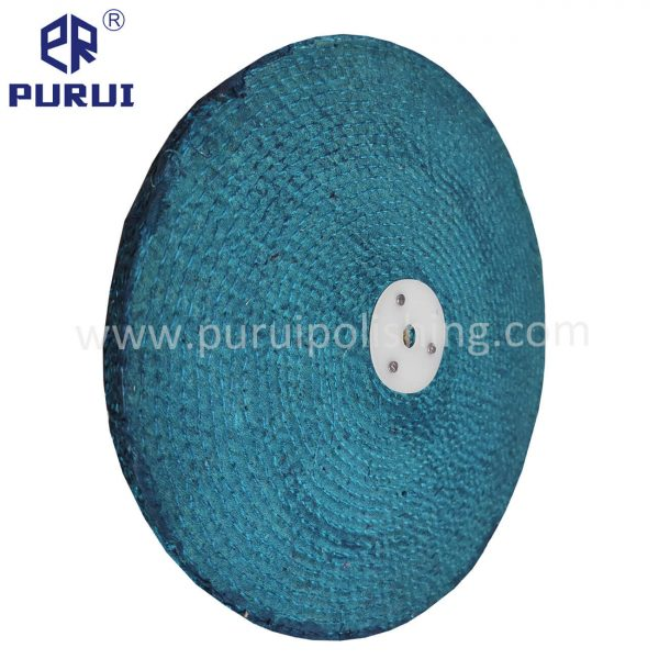 blue treated sisal buffing wheel
