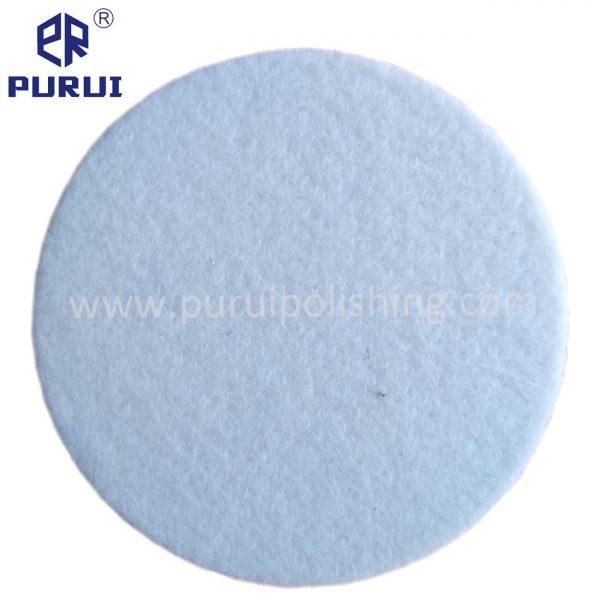 felt polishing pad with velcro