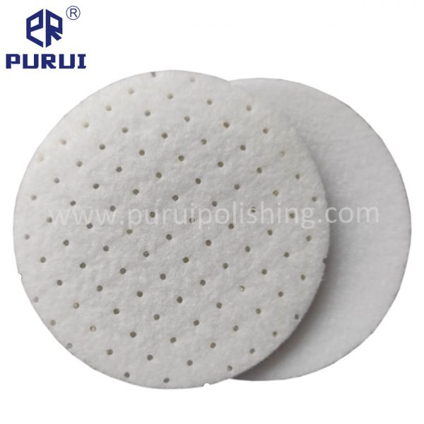 rayon glass polishing pad with perforations