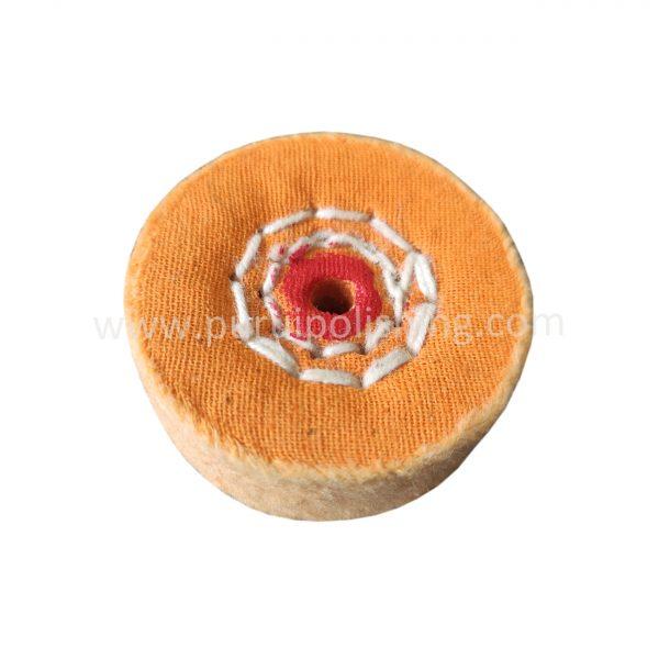 yellow buffing wheel