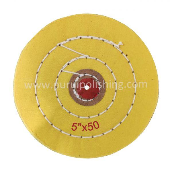 yellow 5 inch buffing wheel
